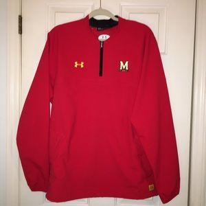 Maryland Terrapins Red half zipper pullover jacket
